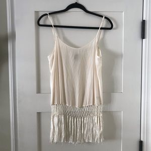 Cream Haute Hippie silk tank top